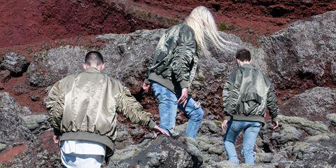 Jeans, Denim, Jacket, Rock, Bedrock, Geology, Soil, Formation, Outcrop, Boot,