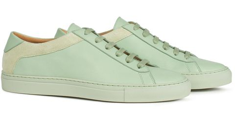 Footwear, Product, Green, Brown, Shoe, Photograph, White, Style, Teal, Line,