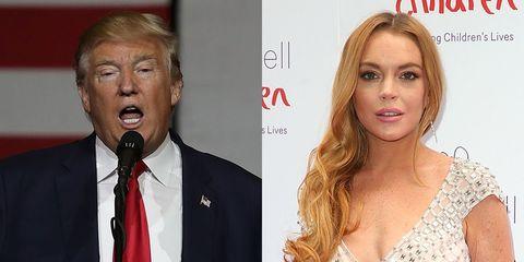 Donald Trump, Lindsay Lohan