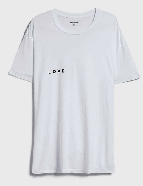 Product, Sleeve, Text, White, T-shirt, Grey, Active shirt, Top, Graphics, Brand,