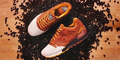 Brown, Orange, Amber, Athletic shoe, Carmine, Tan, Sneakers, Walking shoe, Design, Peach,