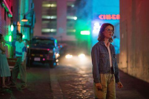 Night, Street, Light, Street fashion, Electric blue, Snapshot, Midnight, Truck, Neon, Lens flare,