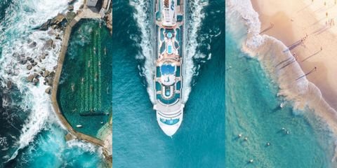 Body of water, Watercraft, Boat, Waterway, Naval architecture, Fluid, Aerial photography, Azure, Photography, Aqua,