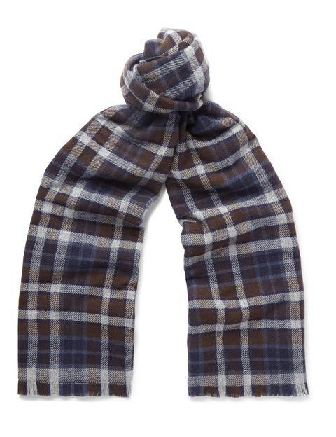 Plaid, Brown, Product, Pattern, Sleeve, Tartan, Collar, Textile, White, Wrap,
