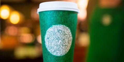 Green, Drinkware, Lid, Coffee cup sleeve, Tumbler, Cylinder, Cup,