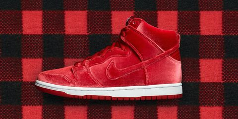 cheap for discount da9a9 6aa3a If its beginning to look a lot like the winter holidays, you can thank Nike.  Velvet is always a welcome addition and here we find it in saturated red on  a ...