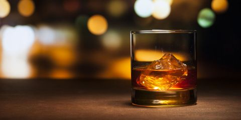Fluid, Liquid, Drinkware, Glass, Amber, Orange, Distilled beverage, Alcoholic beverage, Drink, Old fashioned glass,