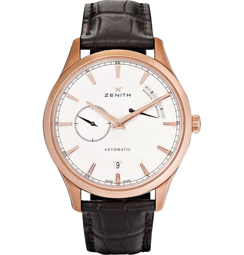 "<p>""My favorite is a Power Reserve 40 rose gold-tone stainless steel and alligator strap watch by Zenith. It's a clean, classic design with the right dose of glamor.""</p>"