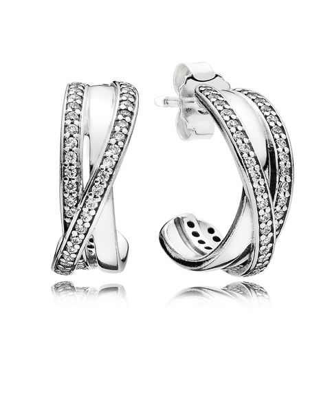 <p>If you're headed somewhere that will involve a night on the town, these sterling silver earrings will give her an extra dash of elegance. </p>