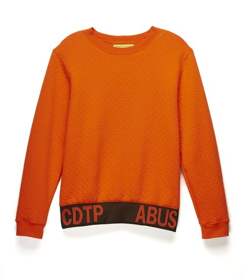Product, Sleeve, Orange, Textile, Amber, Sweater, Fashion, Sweatshirt, Peach, Active shirt,