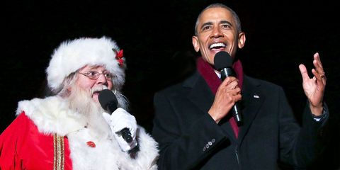 Watch Barack Obama Sing 'Jingle Bells' With Santa Claus and Chance the Rapper