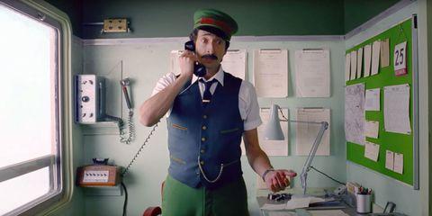 Cap, Uniform, Collar, Service, Dress shirt, Moustache, Tie, Job, Gas, Employment,