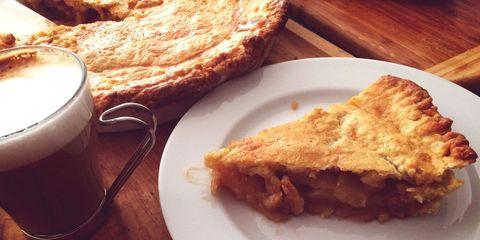 Food, Serveware, Cup, Ingredient, Dish, Pie, Tableware, Plate, Baked goods, Coffee cup,