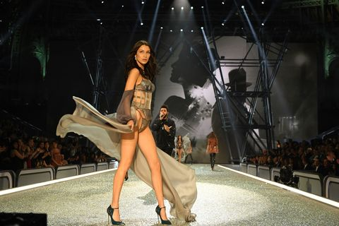 Fashion show, Fashion model, Runway, Dress, Fashion, Model, Public event, Costume design, Haute couture, Long hair,