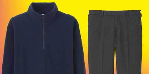 Blue, Yellow, Sleeve, Textile, Collar, Electric blue, Black, Grey, Sweatshirt, Pocket,