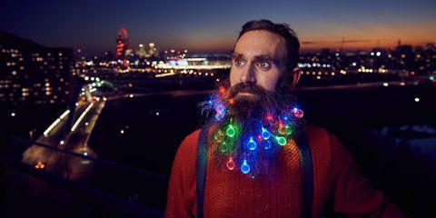 Facial hair, Moustache, Night, Metropolitan area, Beard, Electric blue, Cityscape, Metropolis, Skyline, Downtown,