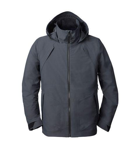Jacket, Sleeve, Textile, Outerwear, White, Collar, Fashion, Black, Sweatshirt, Hood,