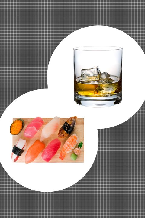 "<p>With a bolder edge than its cousin bourbon, rye seems harder to get along with. But that's only if you've never tried cracking open a bottle when your sushi order arrives. The whiskey benefits from the soft unctuousness of raw fish, the heft of rice, and the salinity of the seaweed. </p><p><strong data-redactor-tag=""strong"">How to serve: </strong>On the rocks.</p>"