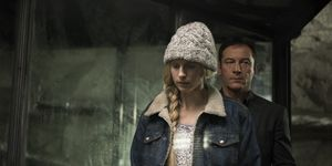Brit Marling and Jason Isaacs in The OA
