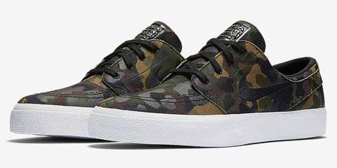 Footwear, Product, Shoe, Brown, Green, White, Athletic shoe, Line, Pattern, Sneakers,