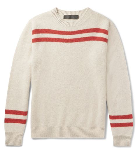 Product, Sleeve, Sweater, Textile, Red, White, Outerwear, Collar, Sportswear, Sweatshirt,