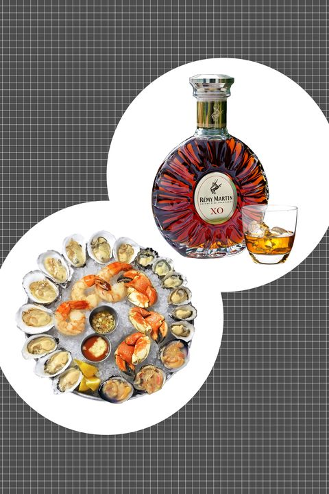 "<p>It isn't simply because the opulent&nbsp;tray of chilled shellfish and raw seafood echoes nicely with the layers of flavor and luxury of cognac—though it does. Rather, it's that the salinity and oceanic quality of shellfish like oysters and lobster claws finds a smooth and summer-fruited companion in cognac, especially a fine cognac as rich and well-balanced as <a href=""http://www.remymartin.com/us/collection/xo/"">Remy Martin XO</a>. It's the ultimate surf-and-turf. </p><p> <strong data-redactor-tag=""strong"">How to serve:</strong> Neat, room temperature, and often.</p><p><span class=""redactor-invisible-space"" data-verified=""redactor"" data-redactor-tag=""span"" data-redactor-class=""redactor-invisible-space""></span><br></p>"