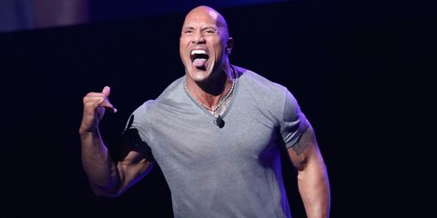 One of The Rock's Workout Tips Involves a Strategically Placed Toilet
