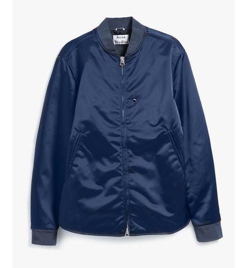 Clothing, Blue, Product, Jacket, Collar, Sleeve, Textile, Outerwear, White, Coat,