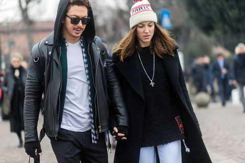 Clothing, Cap, Jacket, Trousers, Winter, Textile, Coat, Outerwear, Style, Street fashion,