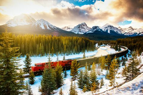 "<p><span>You may have jokingly (or perhaps, literally) considered a move here as of late–but as it turns out, there are many reasons to escape to the Great White North. The country celebrates its 150</span><sup data-redactor-tag=""sup"">th</sup><span> birthday this year, and is full of exciting perks as a result. Montréal (which turns 375 this year) is flexing its muscles as one of the world's most exciting culinary scenes, influenced by its European roots and infused with flavors from its diverse, multi-cultural population. Don't miss out on a visit to <a href=""http://www.lefilet.ca/en/"" target=""_blank"" data-tracking-id=""recirc-text-link"">Le Filet</a> or <a href=""http://www.les400coups.ca/"" target=""_blank"" data-tracking-id=""recirc-text-link"">Les 400 Coups</a> while you're in town, and look out for Marconi and Joël Robuchon<span class=""redactor-invisible-space""></span>'s new Canadian outpost that are both set to open this year. If you're more of a nature lover, head to Banff for one of the most epic bike trails you'll ever ride. Before you venture out, be sure to pick up a <a href=""http://www.commandesparcs-parksorders.ca/webapp/wcs/stores/servlet/en/parksb2c"" target=""_blank"" data-tracking-id=""recirc-text-link"">Discovery Pass</a>, which gives visitors free access to any of the vast country's national parks (there are over 200 of them!) including Banff and Prince Edward Island. If it's art you're after, Toronto's <a href=""http://museumofcontemporaryart.ca/"" target=""_blank"" data-tracking-id=""recirc-text-link"">Museum of Contemporary Art</a> will open the doors to its expanded location this year, along with the unveiling of <a href=""http://www.thebentway.ca/"" target=""_blank"" data-tracking-id=""recirc-text-link"">The Bentway</a>, their answer to Manhattan's <a href=""http://www.thehighline.org/"" target=""_blank"" data-tracking-id=""recirc-text-link"">High Line</a>.</span></p><p><strong data-redactor-tag=""strong""> Where to Stay</strong>: <a href=""http://www.fairmont.com/destinations/"" target=""_blank"" data-tracking-id=""recirc-text-link"">Fairmont</a> boasts 18 hotels across the country with one soon to open in Montréal, and each is more impressive than the next. Montréal <span class=""redactor-invisible-space""></span>is home to a <a href=""http://www.ritzcarlton.com/en/hotels/canada/montreal"" target=""_blank"" data-tracking-id=""recirc-text-link"">Ritz Carlton</a> as well as <a href=""http://www.hotellestjames.com/"" target=""_blank"" data-tracking-id=""recirc-text-link"">Hotel Le St. James</a> and the <a href=""https://hotelstpaul.com/en/"" target=""_blank"" data-tracking-id=""recirc-text-link"">St. Paul Hotel</a>, which are both boutique in size, but the former boasts a grander feel while the latter is sleek and contemporary. In Toronto, the <a href=""https://toronto.park.hyatt.com/en/hotel/home.html"" target=""_blank"" data-tracking-id=""recirc-text-link"">Park Hyatt</a>, <a href=""http://www.fourseasons.com/toronto/"" target=""_blank"" data-tracking-id=""recirc-text-link"">Four Seasons</a> and <a href=""http://www.shangri-la.com/toronto/shangrila/"" target=""_blank"" data-tracking-id=""recirc-text-link"">Shangri-La</a> are pretty much foolproof.</p>  <p><strong data-redactor-tag=""strong"">When to Go</strong>: Summertime promises the best climate to comfortably explore and enjoy the outdoors. Fall's vibrant colors will amaze you, and its balmy temperatures may be your preference for hiking and biking. Early September is for art lovers–that's when the <a href=""http://www.tiff.net/"" target=""_blank"" data-tracking-id=""recirc-text-link"">Toronto International Film Festival</a> takes place. The dead of winter and springtime will likely be too cold for most, but those who are open to braving borderline negative temperatures will no doubt enjoy cozying up in Montréal's chicest dining spots and cocktail lounges.</p>"