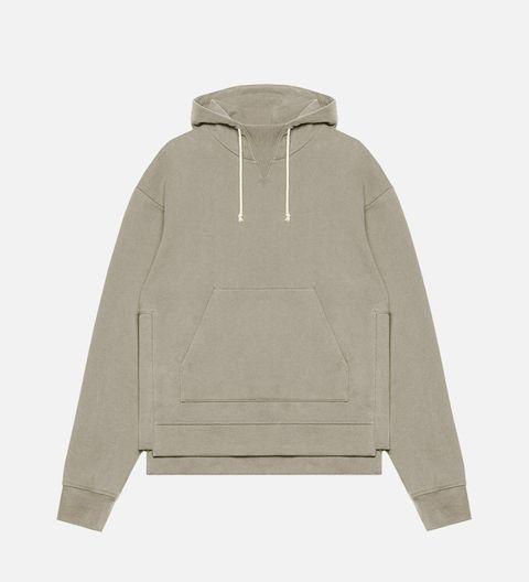 Sleeve, Collar, Grey, Khaki, Beige, Clothes hanger, Sweater, Active shirt, Sweatshirt,