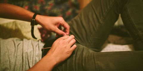 Finger, Wrist, Hand, Joint, Nail, Thumb, Bracelet, Cuff, Vein, Flesh,