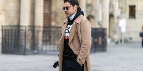 Clothing, Collar, Sleeve, Human body, Outerwear, Coat, Style, Street fashion, Blazer, Pocket,