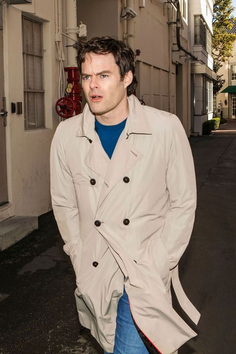 "<p>For many, Bill Hader was the only reason to watch <em data-redactor-tag=""em"" data-verified=""redactor"">SNL</em> from 2005 to 2013. He could salvage a skit with trademark characters like Stefon and elderly reporter Herb Welch. He does drama (<em data-redactor-tag=""em"" data-verified=""redactor"">The Skeleton Twins</em>) and writes (<em data-redactor-tag=""em"" data-verified=""redactor"">South Park; Documentary Now!</em>), but what he's really always wanted to do is direct.&nbsp;Enter&nbsp;<em data-redactor-tag=""em"" data-verified=""redactor"">Barry</em>, an HBO series he cocreated with Alec Berg (<em data-redactor-tag=""em"" data-verified=""redactor"">Curb Your Enthusiasm</em>).&nbsp;Hader directed the first three episodes and&nbsp;stars as a Marine-turned-hitman who follows a target to an&nbsp;L.A. acting class&nbsp;and ultimately signs up. The only thing Hader doesn't love about directing? Having to watch himself act. <em data-redactor-tag=""em"" data-verified=""redactor"">Coat by <a href=""https://www.hugoboss.com/us/hugo/mens-clothing-and-accessories/"" target=""_blank"" data-tracking-id=""recirc-text-link"">Hugo</a>; sweater and jeans by <a href=""https://www.hugoboss.com/us/mens-new-arrivals_boss/"" target=""_blank"" data-tracking-id=""recirc-text-link"">Boss</a>.</em></p>"