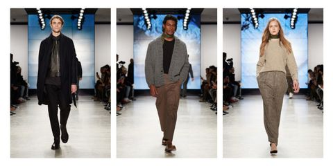 Clothing, Leg, Brown, Sleeve, Trousers, Human body, Shoulder, Textile, Fashion show, Joint,