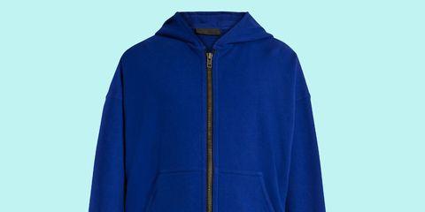 Clothing, Blue, Sleeve, Textile, Outerwear, Jacket, Electric blue, Cobalt blue, Fashion, Azure,
