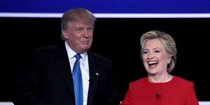 Donald Trump and Hillary Clinton at the first Presidential Debate