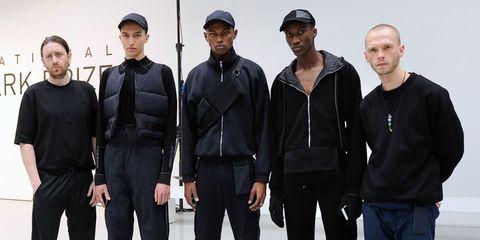 Cap, Sleeve, Collar, Standing, Headgear, Fashion, Baseball cap, Waist, Team, Jacket,