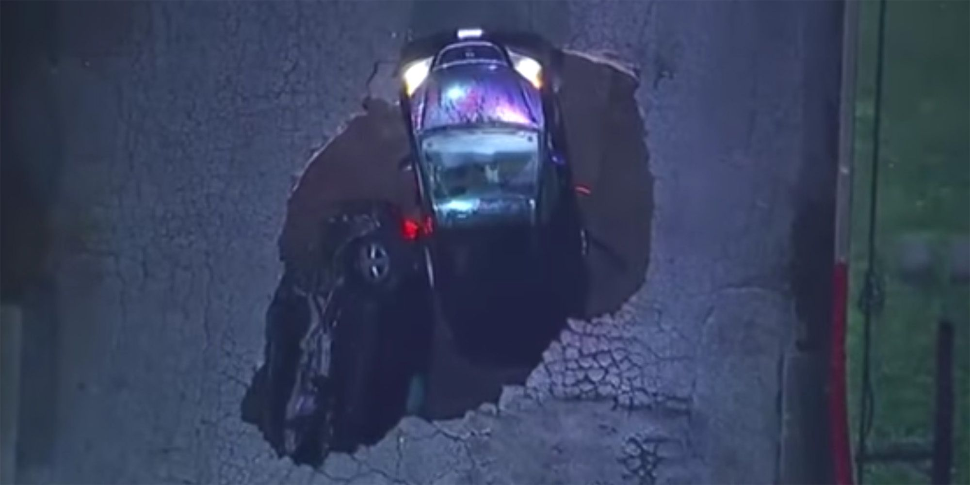 Terrifying Sinkhole Reminds Americans That Nowhere Is Safe