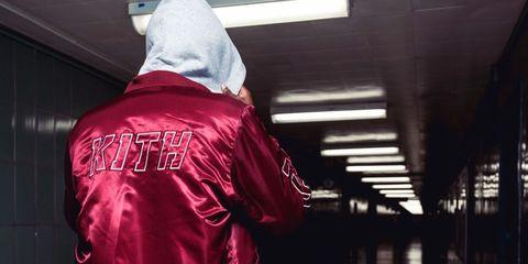 Sleeve, Textile, Carmine, Magenta, Maroon, Tints and shades, Back, Sweatshirt, Hood, Active shirt,