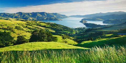 Mountainous landforms, Natural landscape, Nature, Mountain, Highland, Grassland, Green, Hill, Mountain range, Sky,