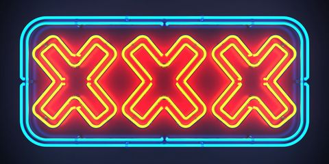 Red, Light, Pattern, Electric blue, Majorelle blue, Parallel, Neon, Signage, Gas, Visual effect lighting,