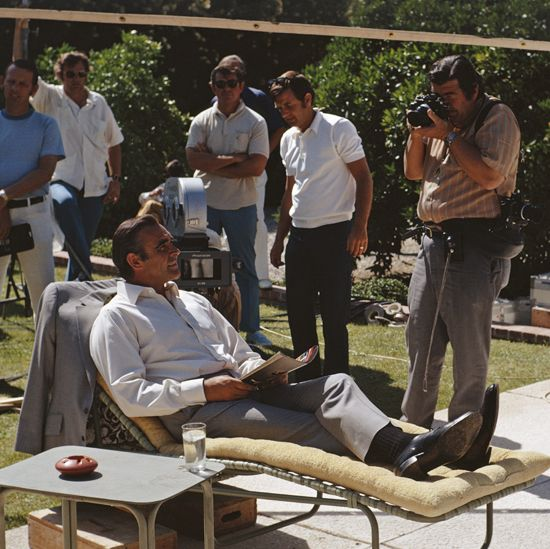 Sean Connery on Diamonds are forever set
