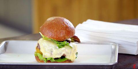 The Best Grilled Onion Gruyere Burger Recipe