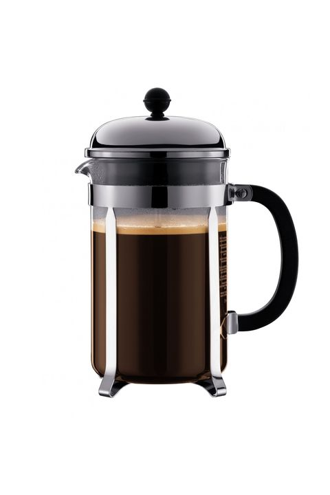 "<p>The Italians may have their macchiato, but the French press is ubiquitous to their neighbors in the north. It's time to say au revoir to&nbsp;the K-Cups and hello to French press&nbsp;brew.&nbsp;</p><p> 	<em data-redactor-tag=""em"">Chambourd ($30) by Bodum, <a href=""http://www.bodum.com/us/en/1923-16us4"" target=""_blank"" data-tracking-id=""recirc-text-link"">bodum.com</a></em></p>"