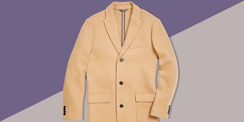 Clothing, Outerwear, Jacket, Blazer, Sleeve, Beige, Collar, Button, Tan, Suit,