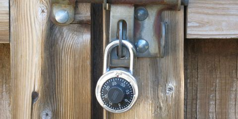 Lock, Wood, Padlock,