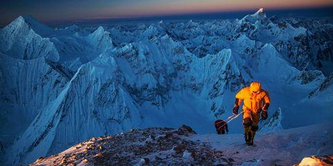 Mountainous landforms, Mountain, Geological phenomenon, Glacial landform, Mountaineer, Mountaineering, Summit, Arctic, Adventure, Mountain range,