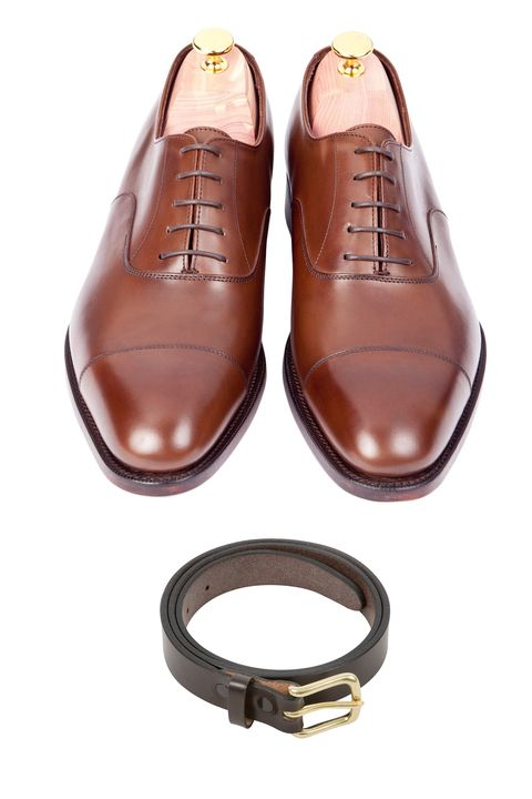 Footwear, Tan, Shoe, Brown, Buckle, Strap, Leather, Fashion accessory,