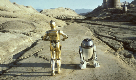 C-3po, R2-d2, Landscape, Fictional character, Robot,